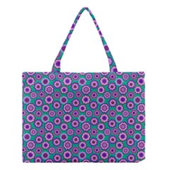 Clipart Floral Pattern Flower Purple Green Medium Tote Bag
