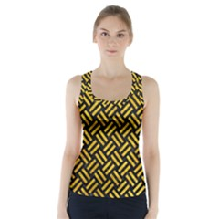 WOV2 BK-YL MARBLE Racer Back Sports Top