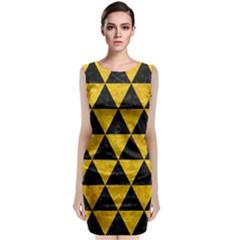 TRI3 BK-YL MARBLE Classic Sleeveless Midi Dress