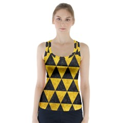 TRI3 BK-YL MARBLE Racer Back Sports Top