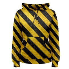 Stripes3 Black Marble & Yellow Marble (r) Women s Pullover Hoodie
