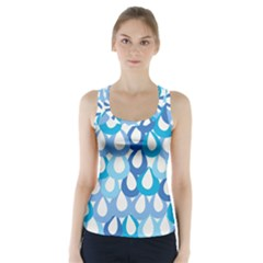 Fabrics Lucienne Blue Water Racer Back Sports Top