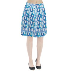 Fabrics Lucienne Blue Water Pleated Skirt