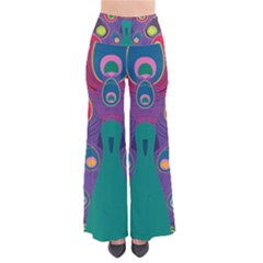 Colorful Peacock Line Pants