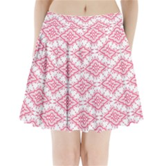 Flower Floral Pink Leafe Pleated Mini Skirt