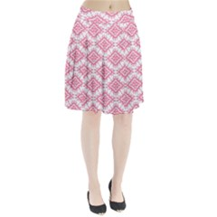 Flower Floral Pink Leafe Pleated Skirt