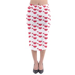 Heart Love Pink Valentine Day Midi Pencil Skirt