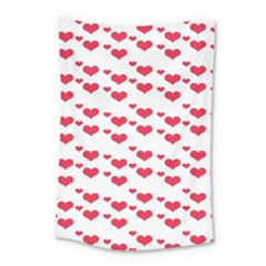 Heart Love Pink Valentine Day Small Tapestry