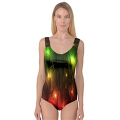 Fractal Manipulations Raw Flower Colored Princess Tank Leotard