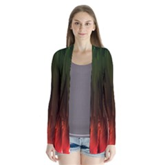 Fractal Manipulations Raw Flower Colored Cardigans