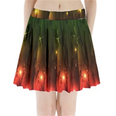 Fractal Manipulations Raw Flower Colored Pleated Mini Skirt