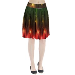 Fractal Manipulations Raw Flower Colored Pleated Skirt