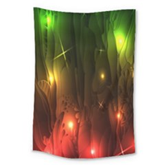 Fractal Manipulations Raw Flower Colored Large Tapestry