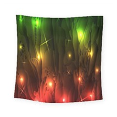 Fractal Manipulations Raw Flower Colored Square Tapestry (small)