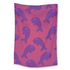 Fluffy Stuffie Animals Purple Pink Large Tapestry