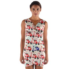 Motorcycle Wrap Front Bodycon Dress