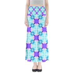Background Colour Flower Rainbow Maxi Skirts