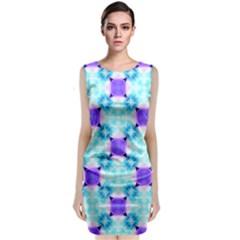 Background Colour Flower Rainbow Classic Sleeveless Midi Dress
