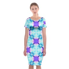 Background Colour Flower Rainbow Classic Short Sleeve Midi Dress