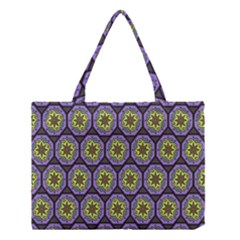 Background Colour Star Flower Purple Yellow Medium Tote Bag