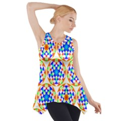 Background Colour Circle Rainbow Side Drop Tank Tunic
