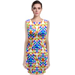 Background Colour Circle Rainbow Classic Sleeveless Midi Dress