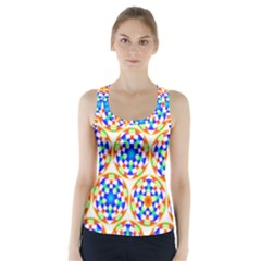 Background Colour Circle Rainbow Racer Back Sports Top