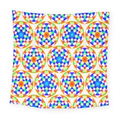 Background Colour Circle Rainbow Square Tapestry (large)