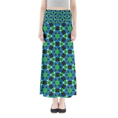 Background Star Colour Green Blue Maxi Skirts