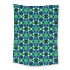 Background Star Colour Green Blue Medium Tapestry