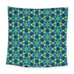 Background Star Colour Green Blue Square Tapestry (large)