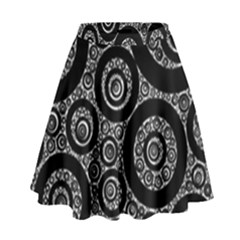 Selected Figures From The Paper Circle Black Hole High Waist Skirt