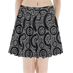 Selected Figures From The Paper Circle Black Hole Pleated Mini Skirt