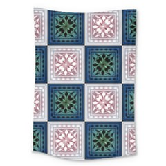 Background Colour Flower Box Large Tapestry