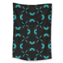 Background Wave Blue Large Tapestry