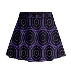 Background Colour Purple Circle Mini Flare Skirt