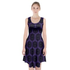 Background Colour Purple Circle Racerback Midi Dress
