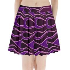 Bright Purple Flag Pleated Mini Skirt