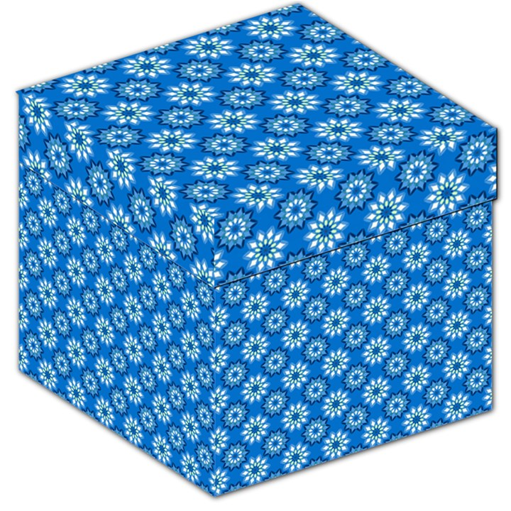 Blue Flower Clipart Floral Background Storage Stool 12