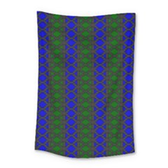 Diamond Alt Blue Green Woven Fabric Small Tapestry