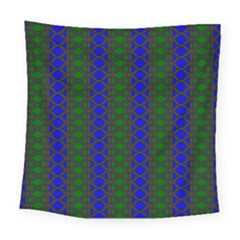 Diamond Alt Blue Green Woven Fabric Square Tapestry (large)