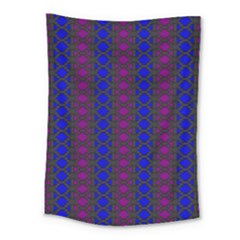 Diamond Alt Blue Purple Woven Fabric Medium Tapestry