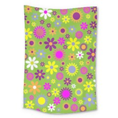 Colorful Floral Flower Large Tapestry