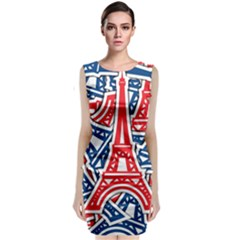 Eiffel Tower Paris Perancis Classic Sleeveless Midi Dress