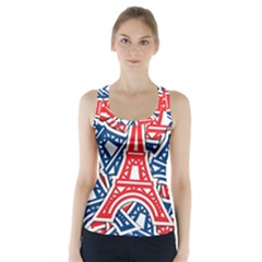 Eiffel Tower Paris Perancis Racer Back Sports Top