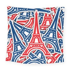 Eiffel Tower Paris Perancis Square Tapestry (large)