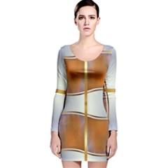 In Gold Annabellerockz 1 Long Sleeve Velvet Bodycon Dress