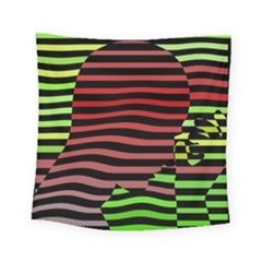 Face Palm Think Square Tapestry (small)