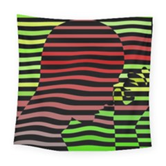 Face Palm Think Square Tapestry (large)