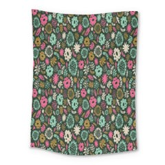 Floral Flower Flowering Rose Medium Tapestry